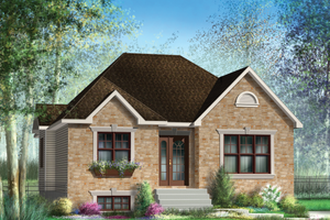 Classical Exterior - Front Elevation Plan #25-4534