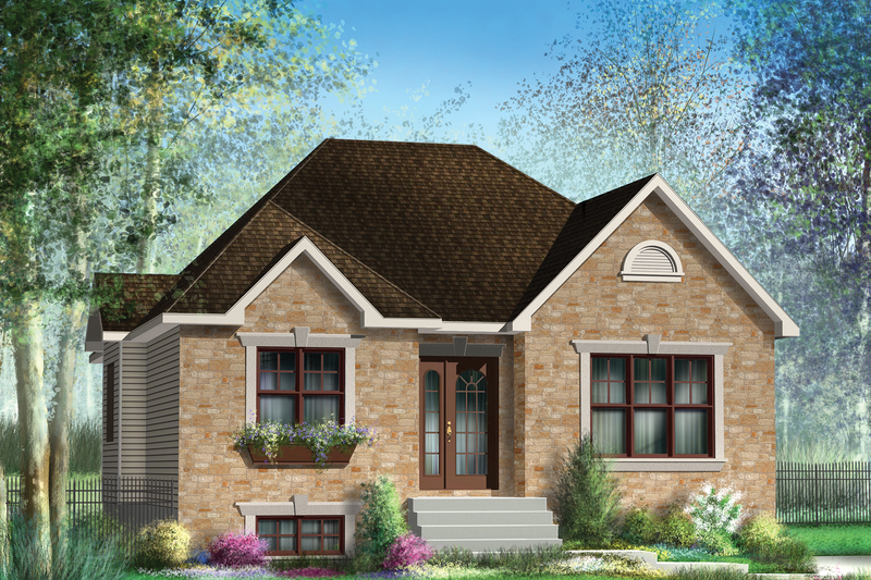 Classical Style House Plan - 2 Beds 1 Baths 1166 Sq/Ft Plan #25-4534 Exterior - Front Elevation