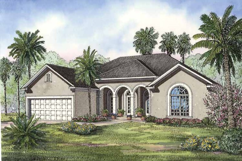 European Exterior - Front Elevation Plan #17-3237