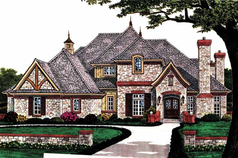 Architectural House Design - Country Exterior - Front Elevation Plan #310-1227