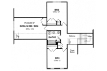 Colonial Floor Plan - Upper Floor Plan Plan #316-273