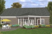 Craftsman Style House Plan - 3 Beds 2.5 Baths 1998 Sq/Ft Plan #56-581 Exterior - Rear Elevation