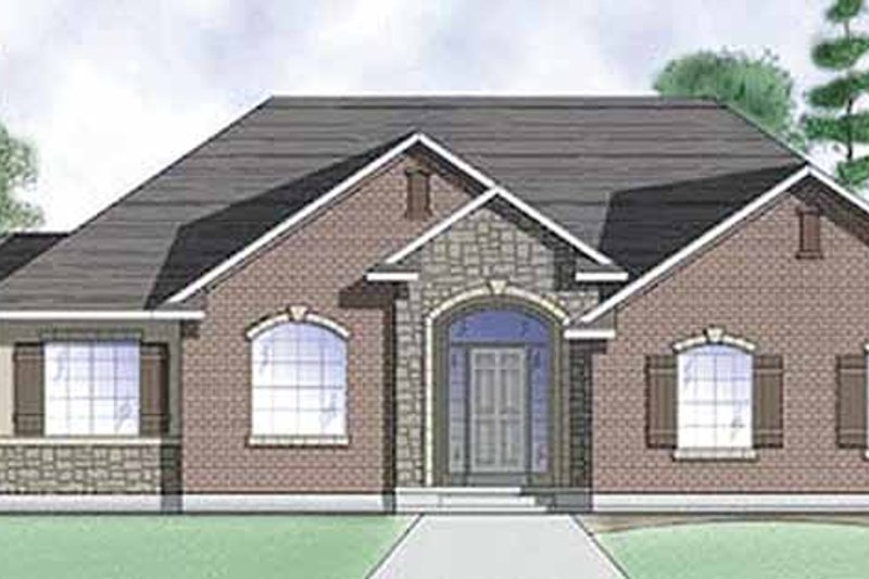 Traditional Exterior - Front Elevation Plan #945-7 - Houseplans.com
