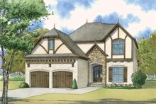 Architectural House Design - European Exterior - Front Elevation Plan #923-57