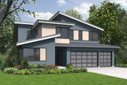 Contemporary Style House Plan - 4 Beds 3 Baths 2873 Sq/Ft Plan #48-706 Exterior - Front Elevation