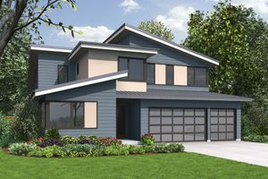 Contemporary Exterior - Front Elevation Plan #48-706