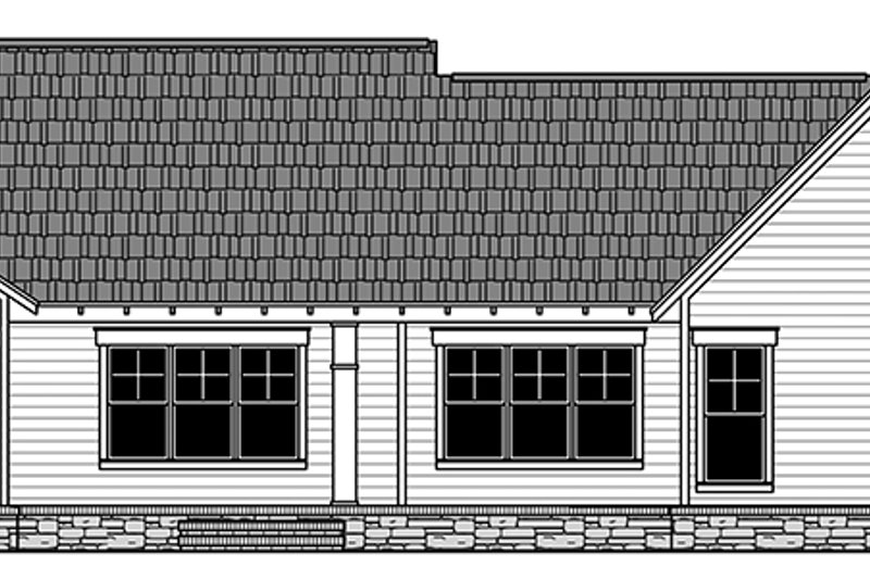 Ranch Exterior - Rear Elevation Plan #21-440 - Houseplans.com