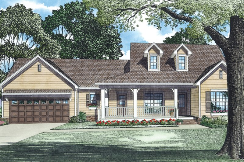 Country Exterior - Front Elevation Plan #17-2893