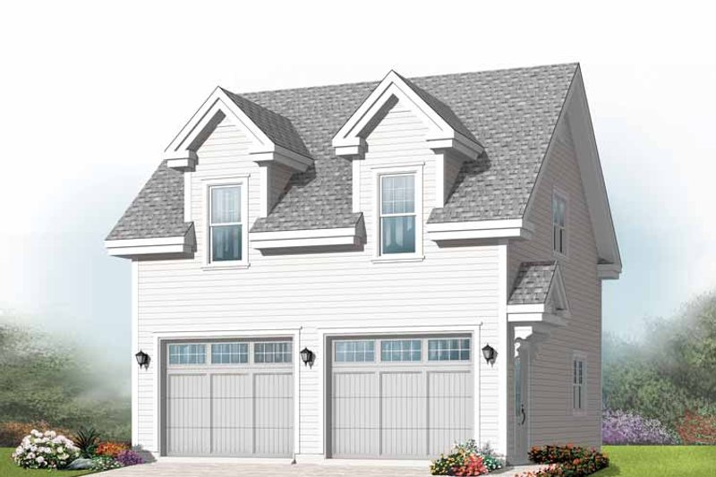 Exterior - Front Elevation Plan #23-2410 - Houseplans.com