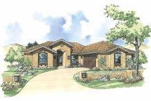 House Plan Design - Mediterranean Exterior - Front Elevation Plan #930-299