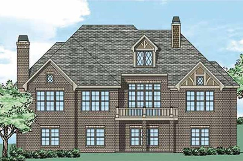 Tudor Exterior - Rear Elevation Plan #927-431 - Houseplans.com