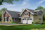 Craftsman Style House Plan - 5 Beds 3 Baths 2570 Sq/Ft Plan #132-113 Exterior - Rear Elevation