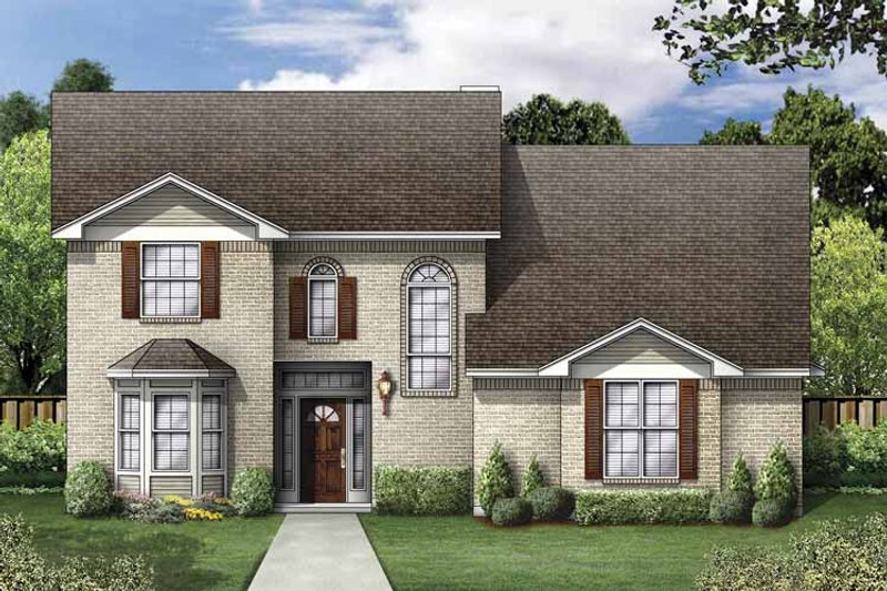 Colonial Exterior - Front Elevation Plan #84-773 - Houseplans.com
