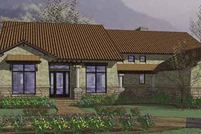 House Plan Design - Mediterranean Exterior - Front Elevation Plan #120-217