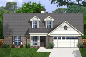 Traditional Exterior - Front Elevation Plan #40-404