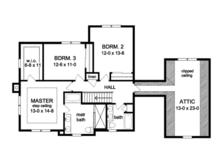 Traditional Floor Plan - Upper Floor Plan Plan #1010-80