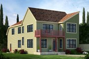 Contemporary Style House Plan - 4 Beds 3.5 Baths 2516 Sq/Ft Plan #20-2205 Exterior - Front Elevation