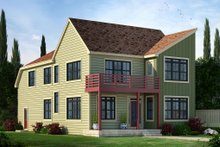 Architectural House Design - Contemporary Exterior - Front Elevation Plan #20-2205