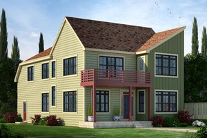 Contemporary Exterior - Front Elevation Plan #20-2205