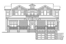 Architectural House Design - Craftsman Exterior - Front Elevation Plan #132-465