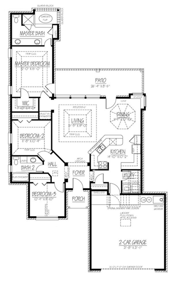 European Floor Plan - Main Floor Plan Plan #1061-15