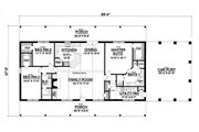 Ranch Style House Plan - 3 Beds 2 Baths 2015 Sq/Ft Plan #40-379 Floor Plan - Main Floor Plan