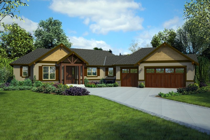 Dream House Plan - Craftsman Exterior - Front Elevation Plan #48-1015