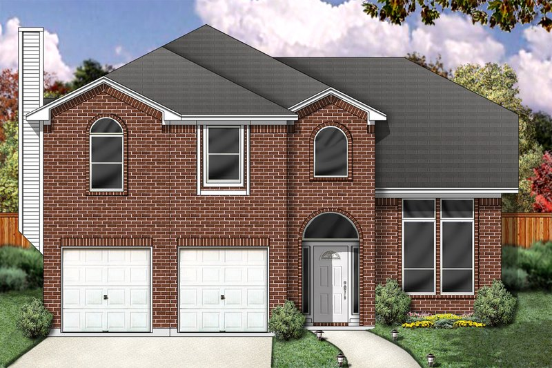Traditional Exterior - Front Elevation Plan #84-362 - Houseplans.com