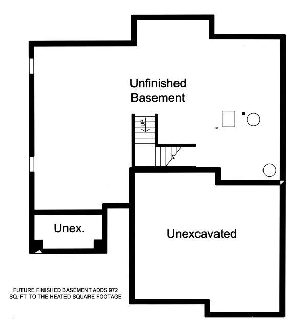 Contemporary Floor Plan - Lower Floor Plan Plan #46-893