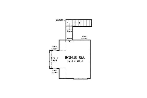 Home Plan - Cottage Floor Plan - Upper Floor Plan #929-1134