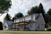 Farmhouse Style House Plan - 3 Beds 3 Baths 2540 Sq/Ft Plan #923-173 Exterior - Other Elevation