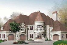 Dream House Plan - European Exterior - Front Elevation Plan #23-576