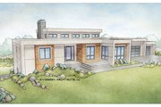 Modern Style House Plan - 3 Beds 3 Baths 3543 Sq/Ft Plan #928-346 Exterior - Front Elevation