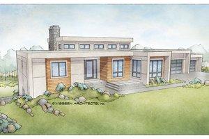 Modern Exterior - Front Elevation Plan #928-346