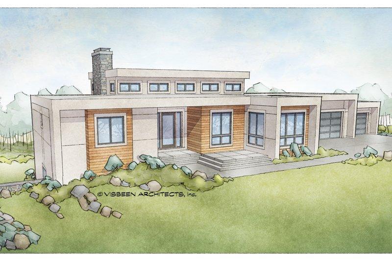 Architectural House Design - Modern Exterior - Front Elevation Plan #928-346