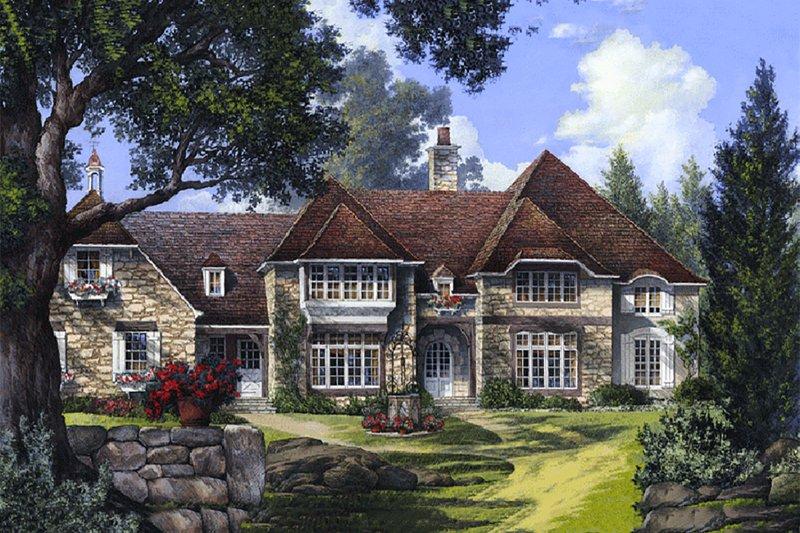 Dream House Plan - European Exterior - Front Elevation Plan #137-232