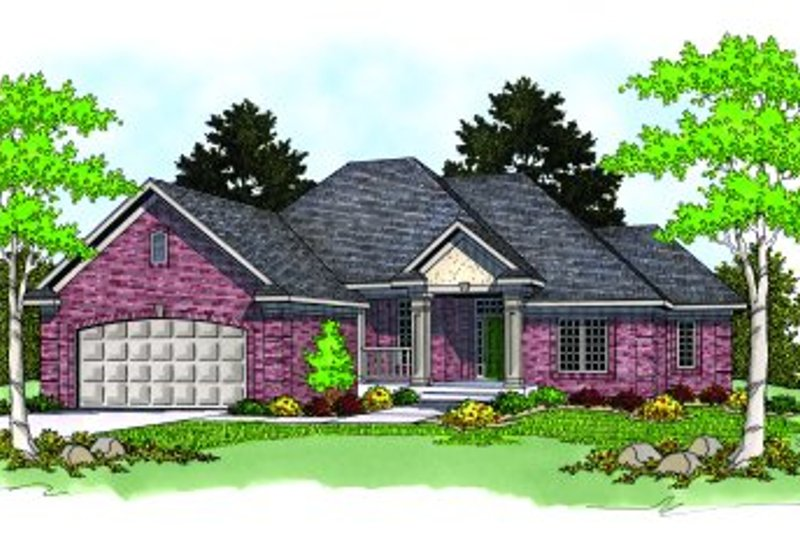 Traditional Exterior - Front Elevation Plan #70-219