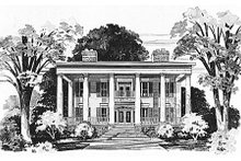 House Blueprint - Classical Exterior - Front Elevation Plan #72-464