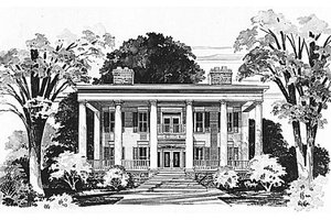Home Plan Design - Classical Exterior - Front Elevation Plan #72-464