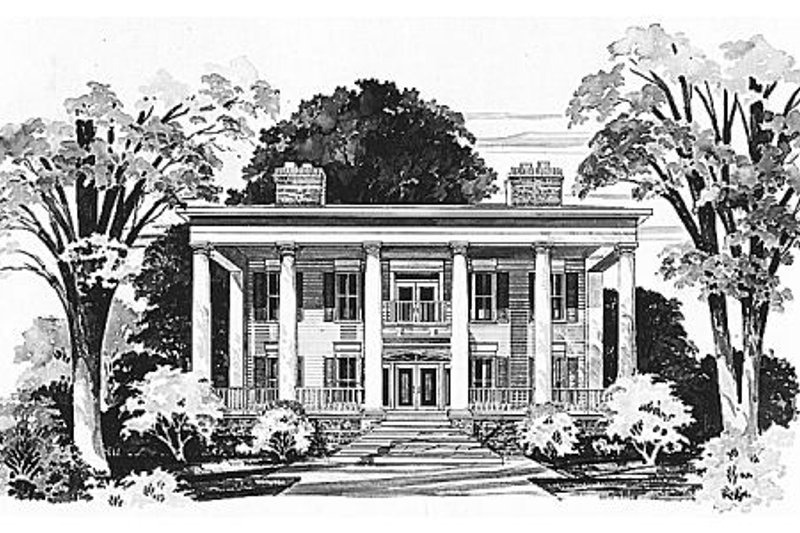 Classical Exterior - Front Elevation Plan #72-464