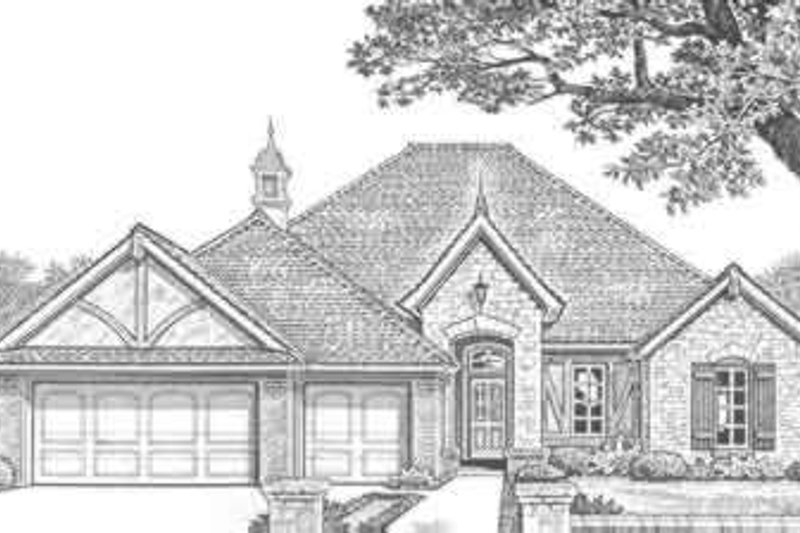 European Style House Plan - 3 Beds 2.5 Baths 2085 Sq/Ft Plan #310-313 Exterior - Front Elevation