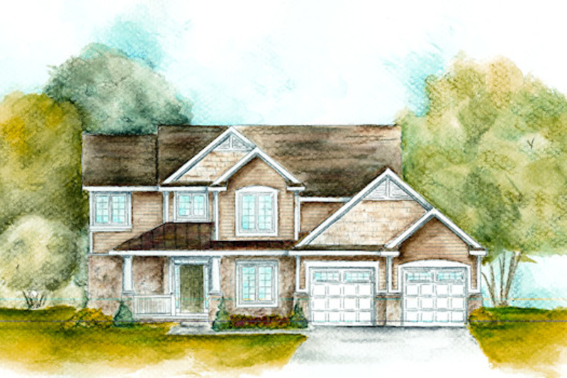 Craftsman Exterior - Front Elevation Plan #20-2084 - Houseplans.com