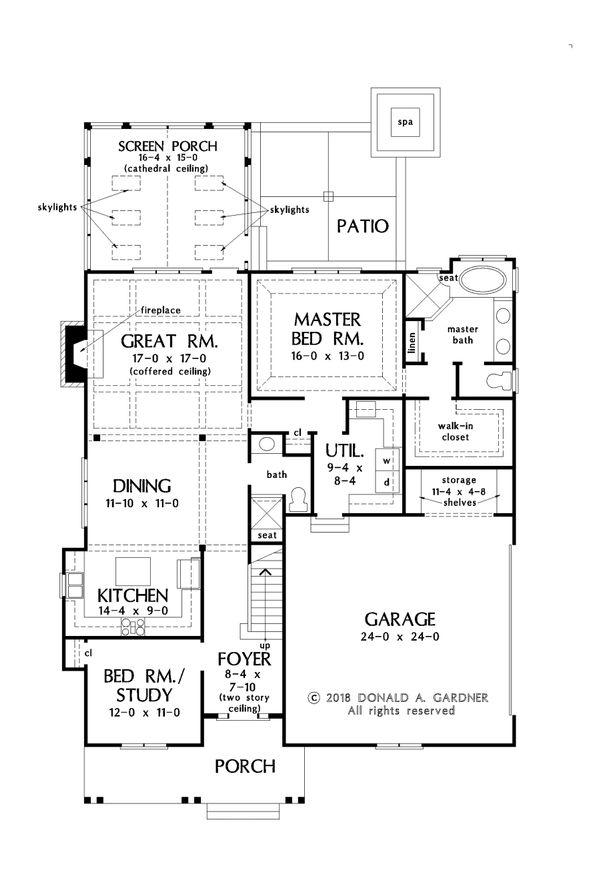 Farmhouse Floor Plan - Main Floor Plan #929-1069