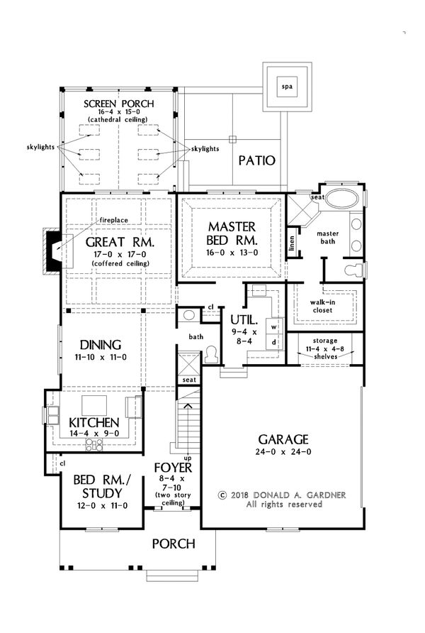 Farmhouse Floor Plan - Main Floor Plan Plan #929-1069