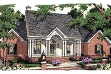 Dream House Plan - Southern Exterior - Front Elevation Plan #406-296