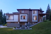 Contemporary Style House Plan - 5 Beds 4 Baths 3936 Sq/Ft Plan #1066-33 Exterior - Other Elevation