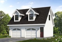 House Plan Design - Country Exterior - Front Elevation Plan #47-513