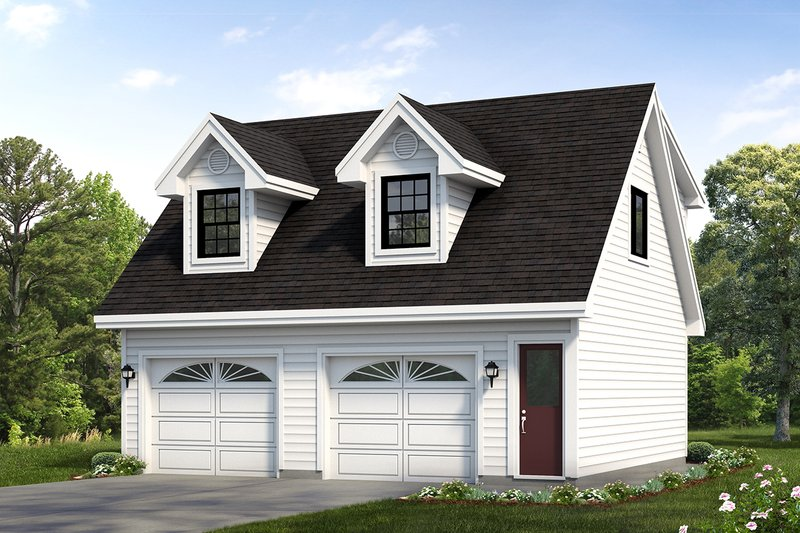 House Blueprint - Country Exterior - Front Elevation Plan #47-513
