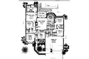 European Style House Plan - 4 Beds 3 Baths 2425 Sq/Ft Plan #310-741 Floor Plan - Main Floor