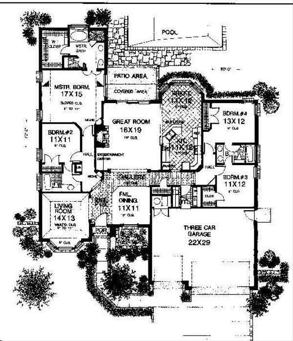 European Floor Plan - Main Floor Plan #310-741